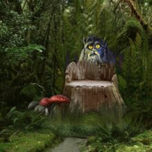 Леший и грибной лес