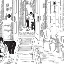 Загадка. Мальчик и папа в квартире.