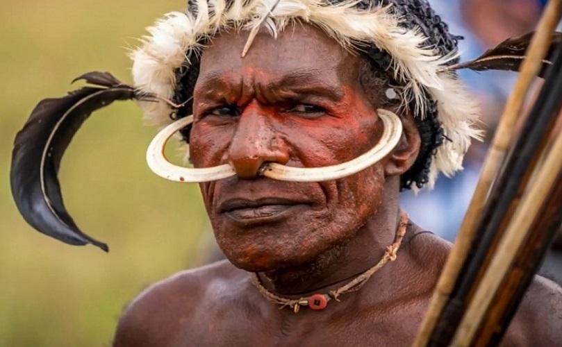 Люди каменного века на острове Новая Гвинея