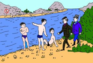 Загадка погоня у реки