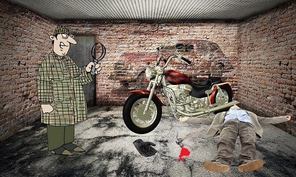 Загадка преступление в гараже