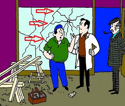 Загадка расколотая витрина