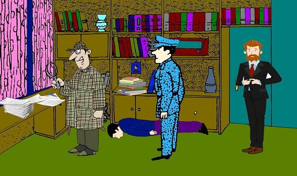 Загадка преступление в кабинете