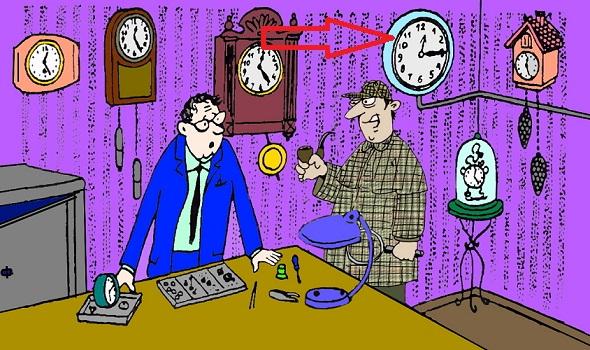Загадка часы
