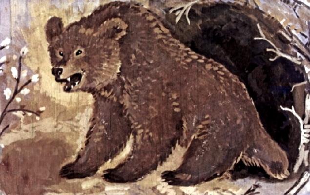 Сказка медведь и петух