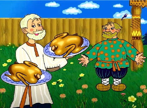 Как мужик гусей делил - сказка XIX века
