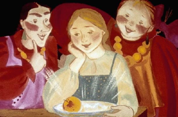 Сказка про серебряное блюдечко и наливное яблочко